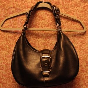 Authentic black Coach hobo shoulder purse